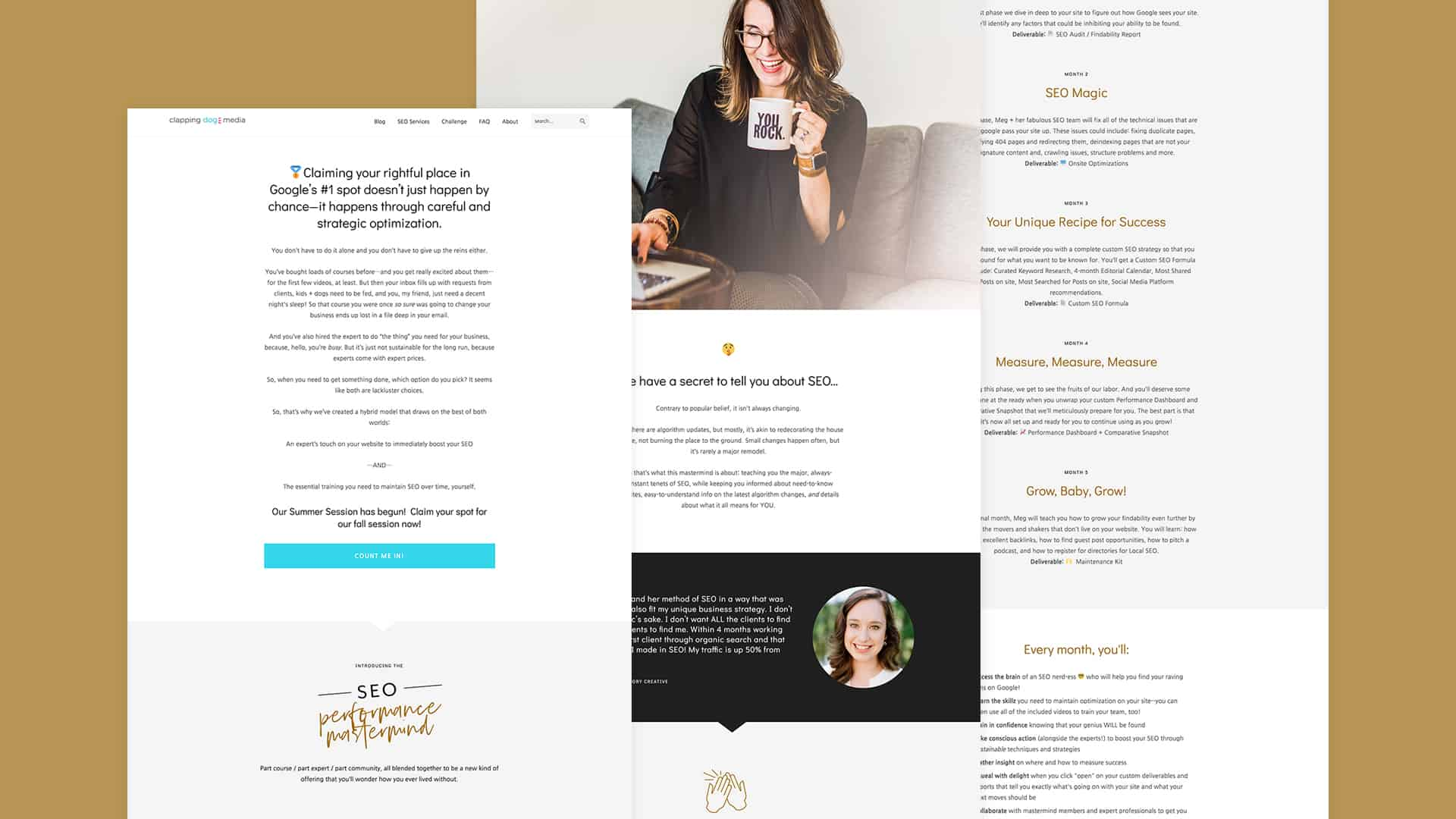 Clapping Dog Media Landing Page Design