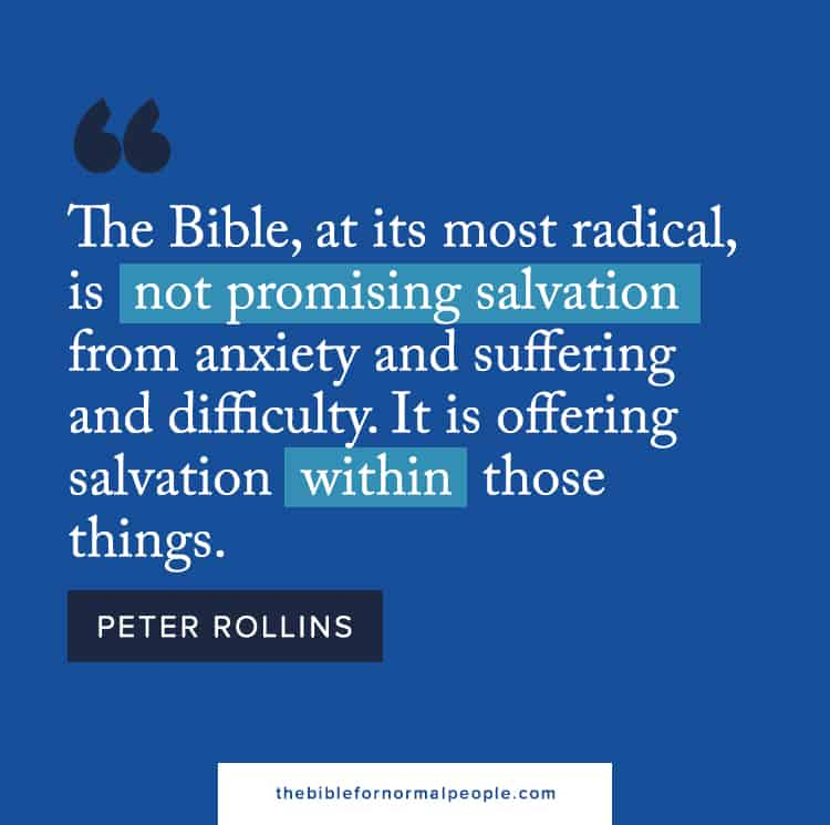 The Bible for Normal People Peter Rollins Quote Social Media Graphic