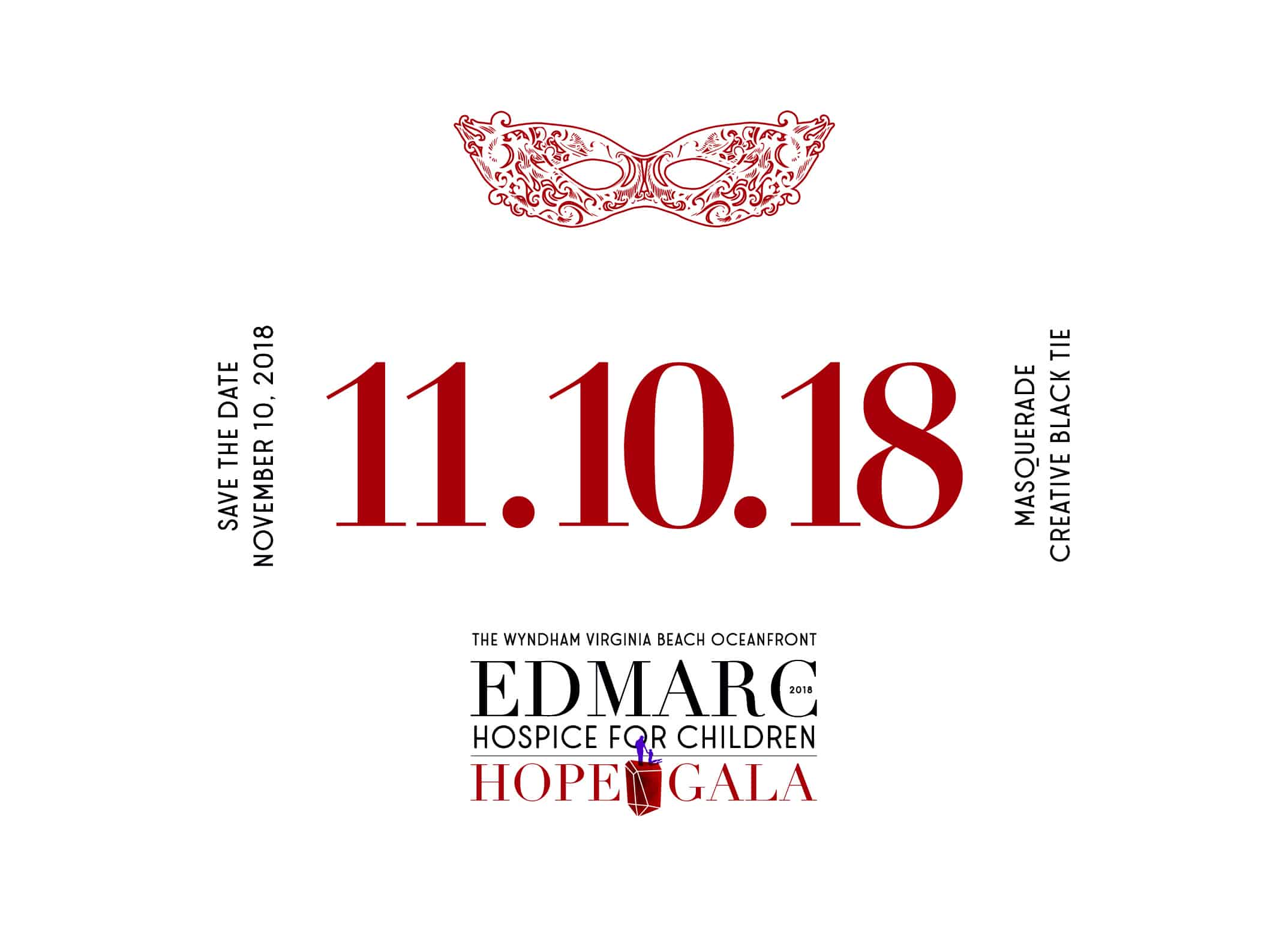 Edmarc Hope Gala Save the Date Postcard