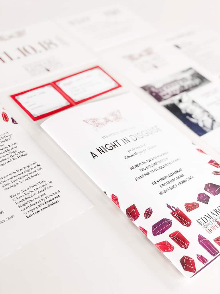 program design, invitation design, rsvp