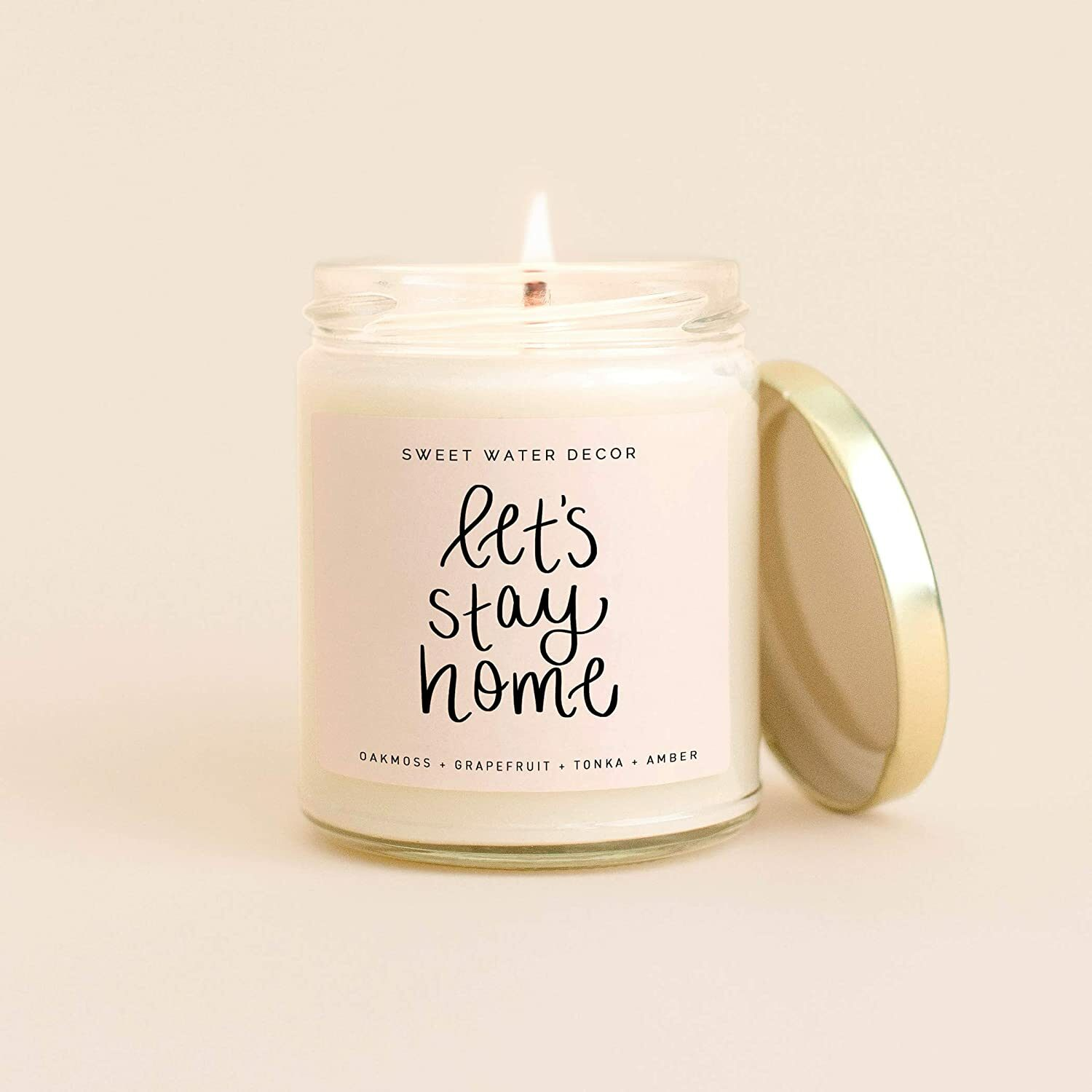 lets stay home candle