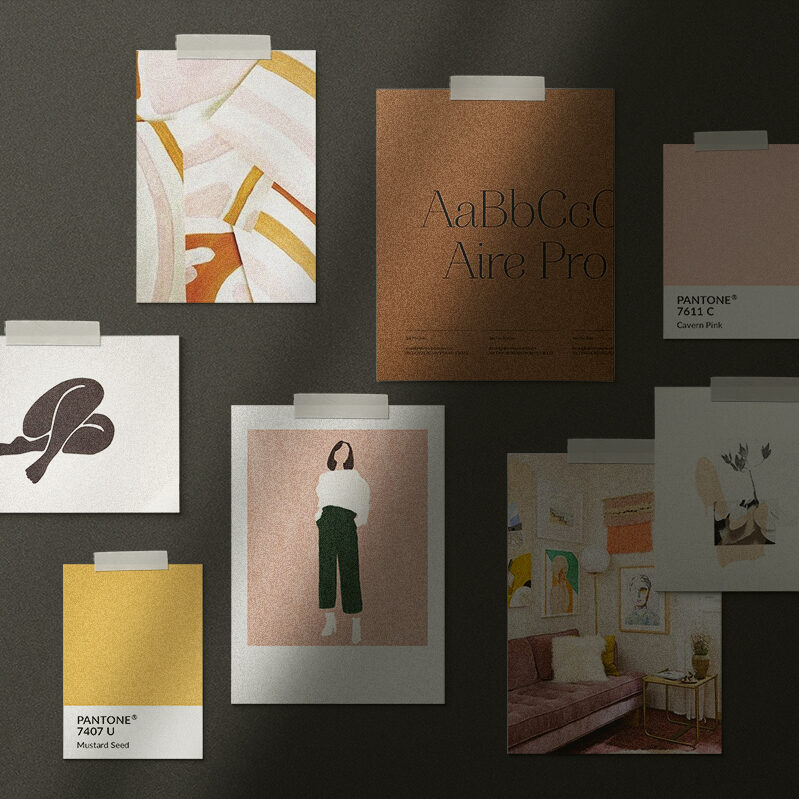 Moodboard for branding by Shay Bocks
